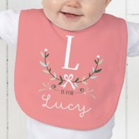 Girly Chic Personalized Bib