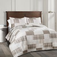 Lush Decor Greenville Reversible Full/Queen Quilt Set in Taupe