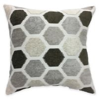 Block Party Square Throw Pillow in Grey/Neutral