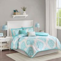 Intelligent Design Senna Twin/Twin XL Duvet Set in Aqua