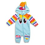 Hasbro® Size 0-3M My Little Pony Hooded Coverall in Light Blue