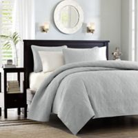 Madison Park Quebec Reversible Full/Queen Coverlet Set in Grey