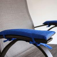Pad Soleil Indoor/Outdoor Armrest Cushions in Cobalt (Set of 2)