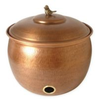 Birdy Hammered Hose Pot in Copper