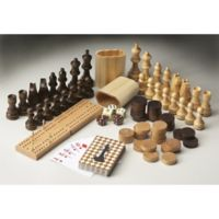 Anatoly Wooden Game Board Set