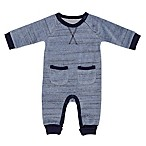 Baby Starters® Newborn Velour Space-Dyed Coverall in Blue