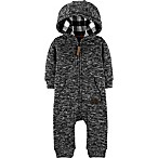 carter's® Size 3M Hooded Sherpa Coverall in Grey