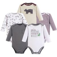 Yoga Sprout Size 3-6M 5-Pack Mountains Long-Sleeve Bodysuits