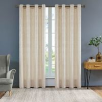 Serena 95-Inch Grommet Window Curtain Panel in Cream