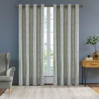 Serena 95-Inch Grommet Window Curtain Panel in Light Silver