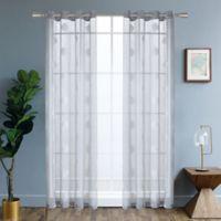 Harper 95-Inch Grommet Window Curtain Panel in Silver