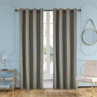 Elite Olivia 54 Inch Grommet Window Curtain Panel In Aloe
