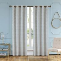 Elite Olivia 84-Inch Grommet Window Curtain Panel in Frost Grey