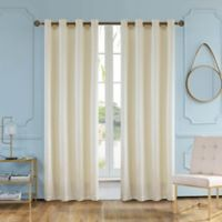 Elite Olivia 84-Inch Grommet Window Curtain Panel in Vanilla