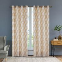 Rivoli Olivia 84-Inch Grommet Window Curtain Panel in Sand