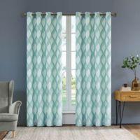 Rivoli Olivia 54-Inch Grommet Window Curtain Panel in Pearl Blue