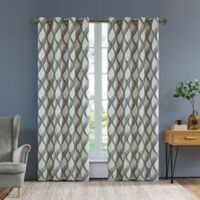 Rivoli Olivia 54-Inch Grommet Window Curtain Panel in Steel Grey