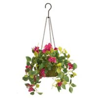 National Tree Company® 9-Inch Artificial Bougainvillea Hanging Plant in Basket
