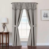 Burlington 84-Inch Rod Pocket Room Darkening Window Curtain Panel Set in Taupe