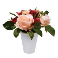 National Tree Company 7.5-Inch Rose Artificial Potted Plant in Pink