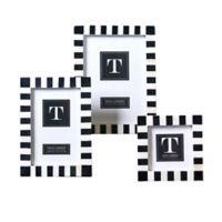 Two's Company® Black and White Domino-Striped Photo Frames (Set of 3)