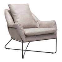 Zuo® Modern Finn Lounge Chair in Distressed Grey
