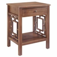 Rowan End Table in Rustic Brown