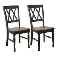 Crosley Furniture Shelby Dining Chairs in Black (Set of 2)