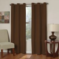 SolarShield® Mandalay Microfiber 63-Inch Room Darkening Window Curtain Panel in Chocolate