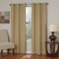 SolarShield® Mandalay Microfiber 63-Inch Grommet Room Darkening Window Curtain Panel in Beige