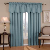 SolarShield® Carmen 63-Inch Rod Pocket Room Darkening Window Curtain Panel in River Blue