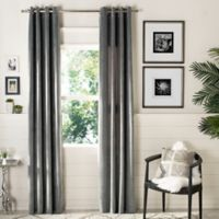 Safavieh Edessa 84-Inch Room Darkening Window Curtain Panel in Grey