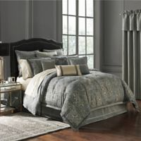 Waterford® Dimitrios Reversible Queen Comforter Set in Charcoal