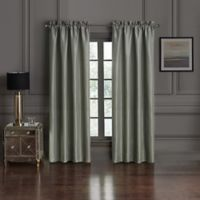 Waterford® Dimitrios 84-Inch Rod Pocket Window Curtain Panel Pair in Charcoal