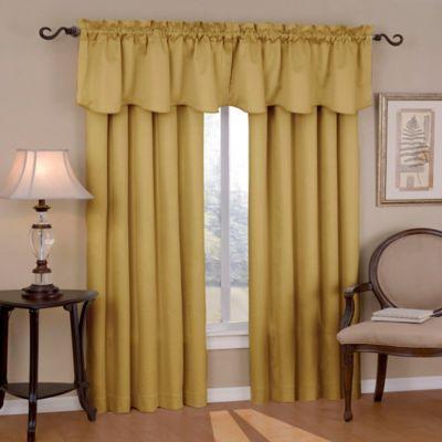 SolarShieldR Carmen Rod Pocket Room Darkening Window Valance In Gold