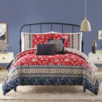 Marbella 5-Piece King Comforter Set in Red