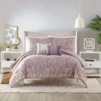 Socorro 5-Piece Queen Comforter Set in Purple