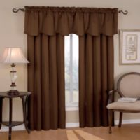 SolarShield® Carmen Rod Pocket Room Darkening Window Valance in Chocolate