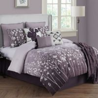 Bethany 10-Piece Queen Comforter Set in Raisin