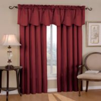 SolarShield® Carmen 63-Inch Rod Pocket Room Darkening Window Curtain Panel in Burgundy