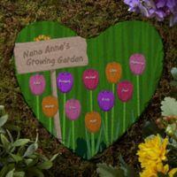 Grandma's Garden Personalized Heart Garden Stone