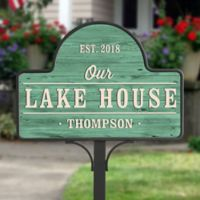 Home Away From Home Personalized Magnetic Garden Sign
