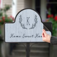 Farmhouse Floral Personalized Magnetic Garden Sign