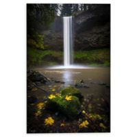 Fallen Leaves at South Falls 8-Inch x 12-Inch Canvas Wall Art