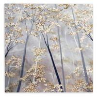 Taupe Forest 14-Inch Square Canvas Wall Art