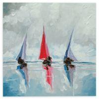 "Stuart Roy 10-Inch x 10-Inch ""Three Boats II"" Canvas Wall Art"