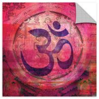 Om Mandala 14-Inch Wall Decal in Pink