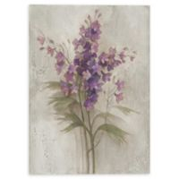 Purple Larkspur Garden 10-Inch x 8-Inch Canvas Wall Art
