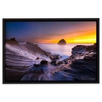 Cape Kiwanda in Oregon 12-Inch x 8-Inch Canvas Wall Art