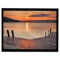 Another Kekua Sunrise 12-Inch x 18-Inch Framed Canvas Wall Art in Orange